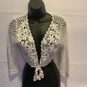 Alberto Makali Cropped White Sweater Small